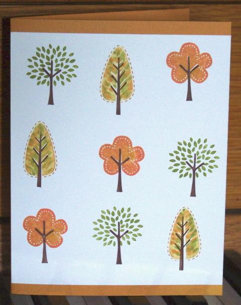 Color challenge - trendy trees