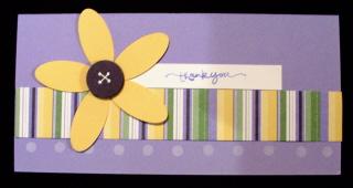 Oval Flower Card