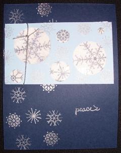 Snowflakes Glitter Window