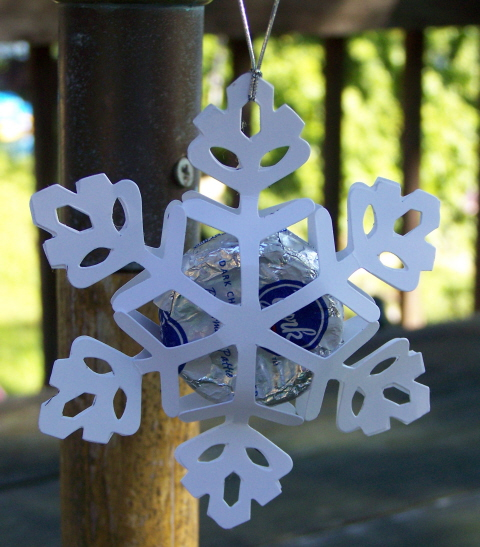 Candy snowflake